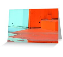 Paint and water reflection  Greeting Card