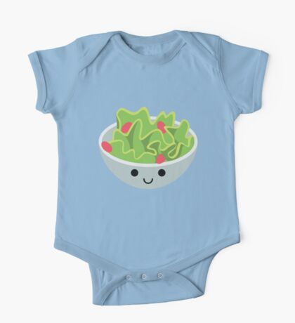 Salad Emoji Happy Smiling Face One Piece - Short Sleeve