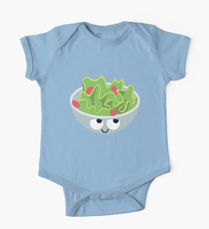 Salad Emoji Think Hard and Hmm One Piece - Short Sleeve