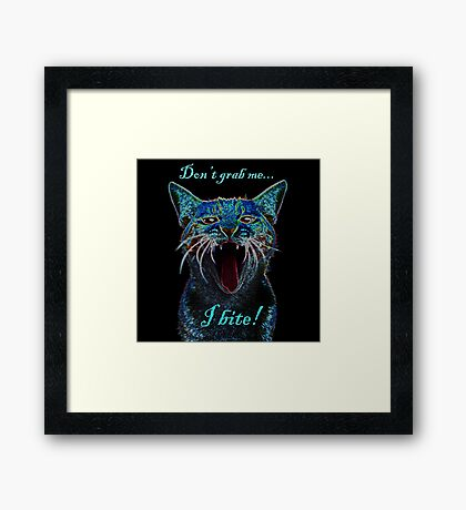 This Pussy Bites by IdeaJones Framed Print