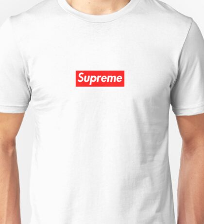 Red supreme box logo Unisex T-Shirt
