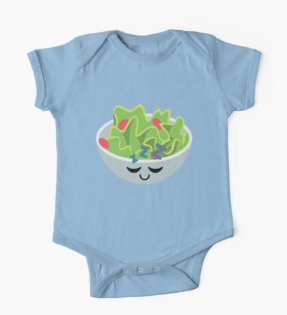 Salad Emoji Sleep and Dream One Piece - Short Sleeve