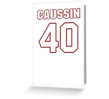 NFL Player Mike Caussin forty 40 Greeting Card