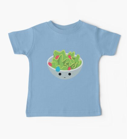 Salad Emoji Speechless with Sweat Baby Tee