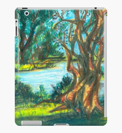 small pond with trees iPad Case/Skin
