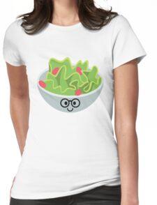 Salad Emoji Nerd Noob Glasses Womens Fitted T-Shirt