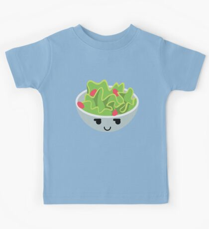 Salad Emoji Cheeky and Up to Something Kids Tee