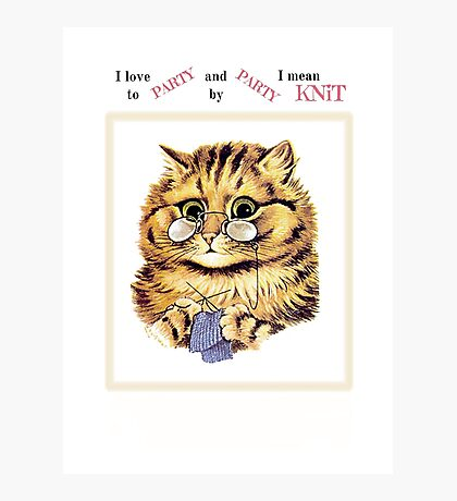 I Love to PARTY and by PARTY I Mean KNiT Photographic Print