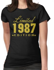 1987 GOLD Limited Edition 30th Birthday Party Shirt, 30 years old shirt, limited edition 30 year old, 30th birthday party tee shirt Womens Fitted T-Shirt