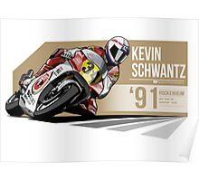 Kevin Schwantz - 1991 Hockenheim Poster