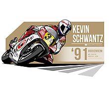Kevin Schwantz - 1991 Hockenheim Photographic Print