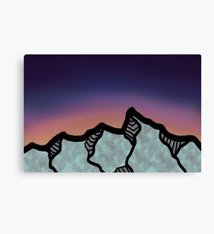 Mountains at Sunset Canvas Print