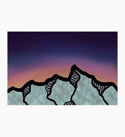 Mountains at Sunset Photographic Print