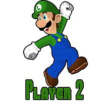 Luigi Player Two Photographic Print