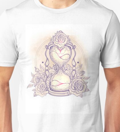 Hourglass and Roses Unisex T-Shirt