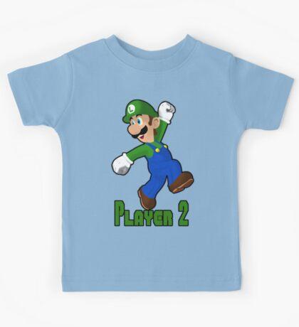 Luigi Player Two Kids Tee