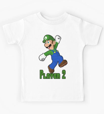 Luigi Player Two Kids Tee