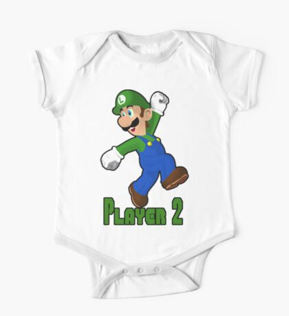 Luigi Player Two One Piece - Short Sleeve