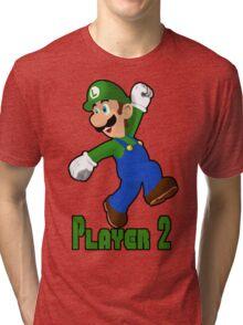 Luigi Player Two Tri-blend T-Shirt