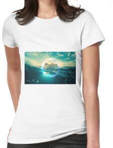 Ocean Vibe Design Womens Fitted T-Shirt