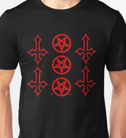 PENTAGRAMS AND CROSSES  clear Unisex T-Shirt