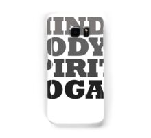 mind body spirit yoga Samsung Galaxy Case/Skin