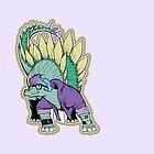 Peg the Lesbian Stegosaurus - LGBT Dinos! by wolfehanson