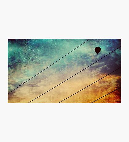 Birds On A Wire #2 Photographic Print