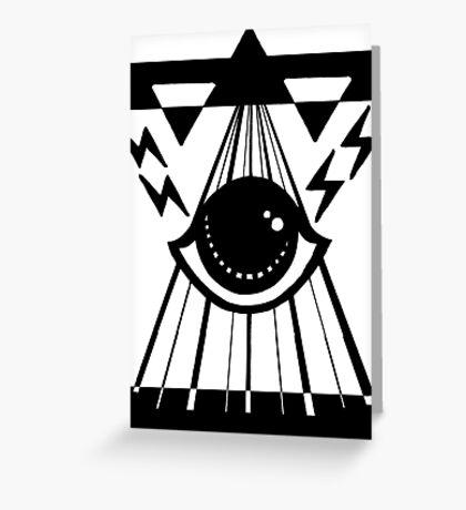 dark psychic attack Greeting Card