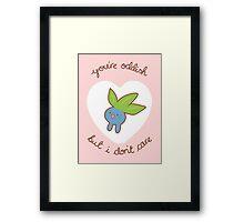 Oddish Valentine V2 Framed Print