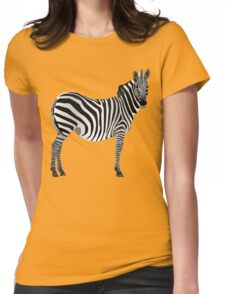 Zebra, Graphic Design Womens Fitted T-Shirt