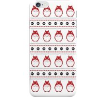Totoro Winter Pattern - Red iPhone Case/Skin