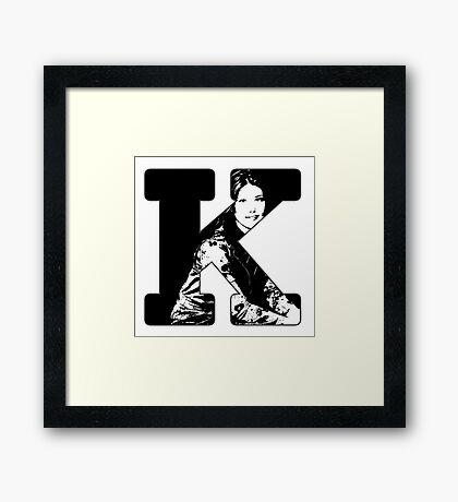 K is for Kaylee Framed Print