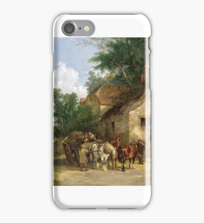 William Shayer Senior - A Halt at the Inn iPhone Case/Skin