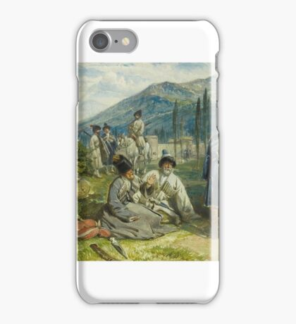 William Simpson (Glasgow - London ), Circassians at the Fort of Waia, 8th October  iPhone Case/Skin