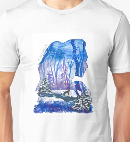 Winter Forest Sabrina Carpenter Watercolor Silhouette Unisex T-Shirt