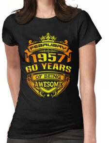 awesome 60 years Womens Fitted T-Shirt