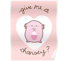 Chansey Valentine V2 Poster