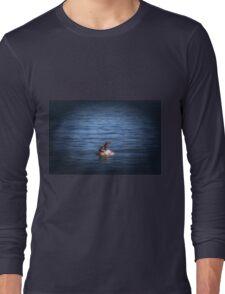 Boppin Along a baby sea lion basks on a buoy Seal Pup Long Sleeve T-Shirt