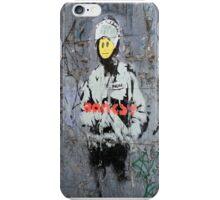 Banksy Smile Cop  iPhone Case/Skin