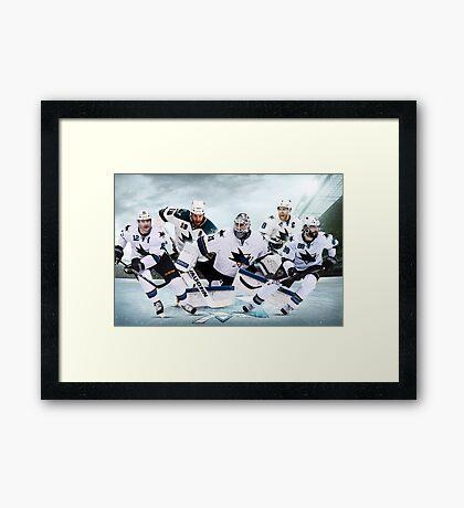 San Jose Sharks Team Design Framed Print