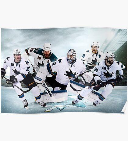 San Jose Sharks Team Design Poster