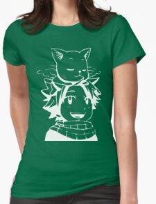 natsu & happy- Fairy Tail Womens Fitted T-Shirt
