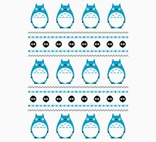 Totoro Winter Pattern - Blue Unisex T-Shirt
