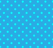 Polkadots Blue and Turquoise by Medusa81