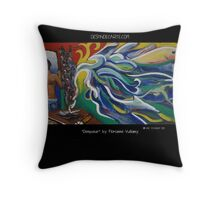 """Denpasar - Bali"" by Florianne Vuillamy Throw Pillow"