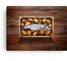 Raw Fish & Chips Canvas Print