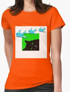 Dreamy Cat Womens Fitted T-Shirt