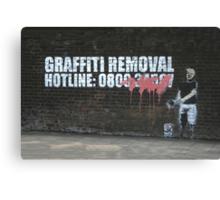 Graffiti Removal Hotline Canvas Print