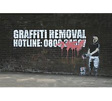 Graffiti Removal Hotline Photographic Print